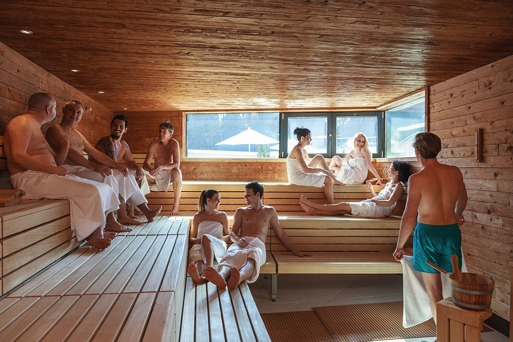 Finn-Sauna in the Kärnten Therme spa in Villach